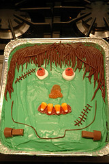 Green Frankenstein Cake